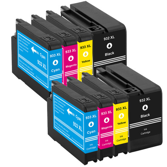 Huismerk-HP-Nr.-932XL/933XL-Inktcartridges-Multipack-8-Pack